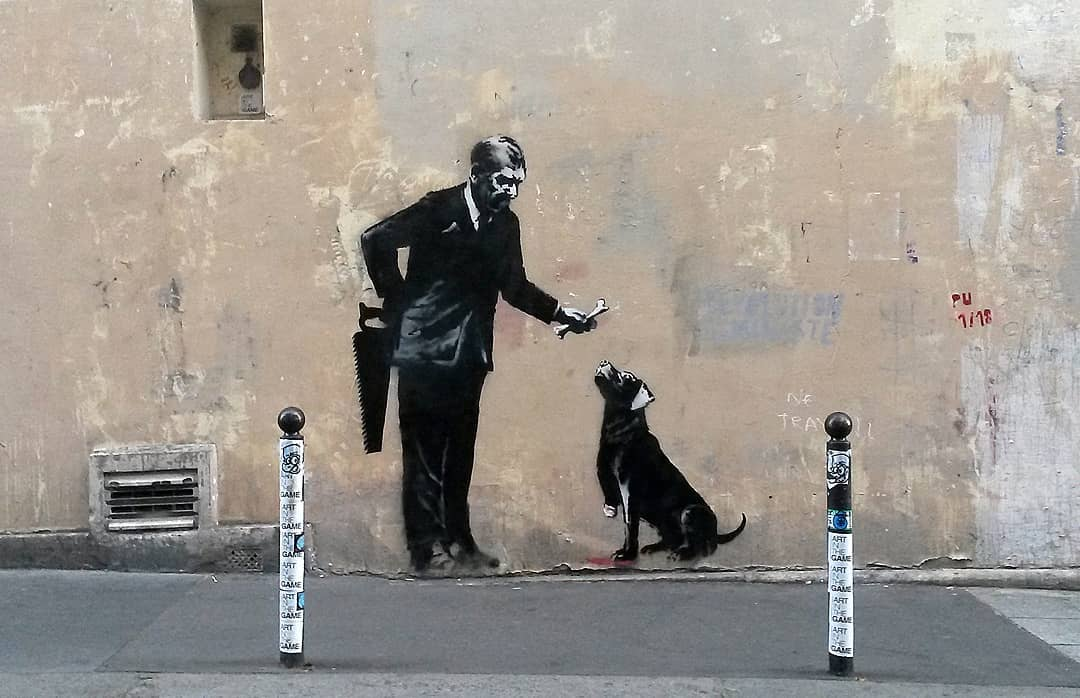 Banksy Hits Paris to Spotlight on Europe's Migrant Crisis